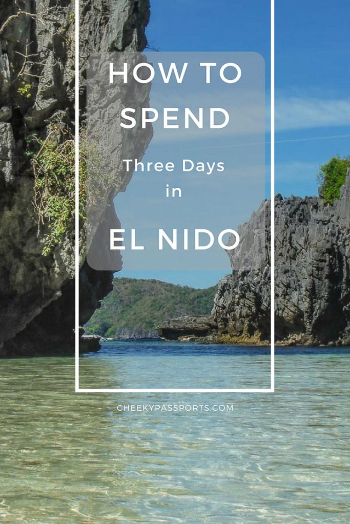 three days in el nido - pinterest pin