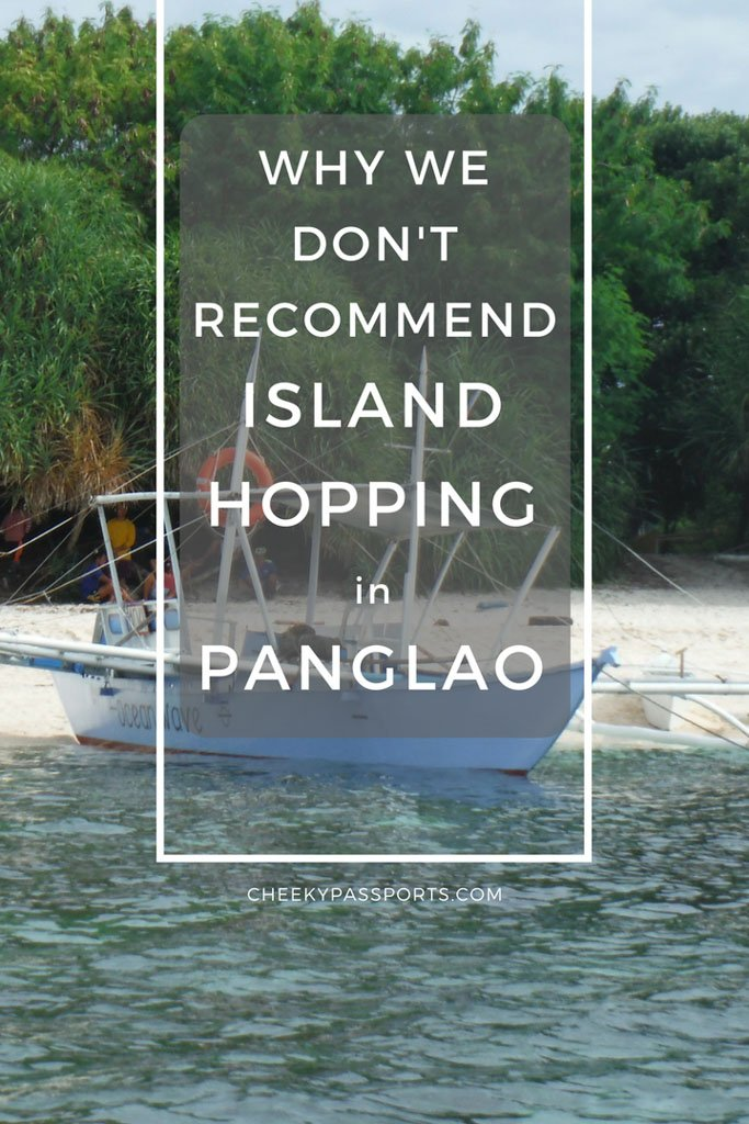 Why we don't recommend island hopping in panglao