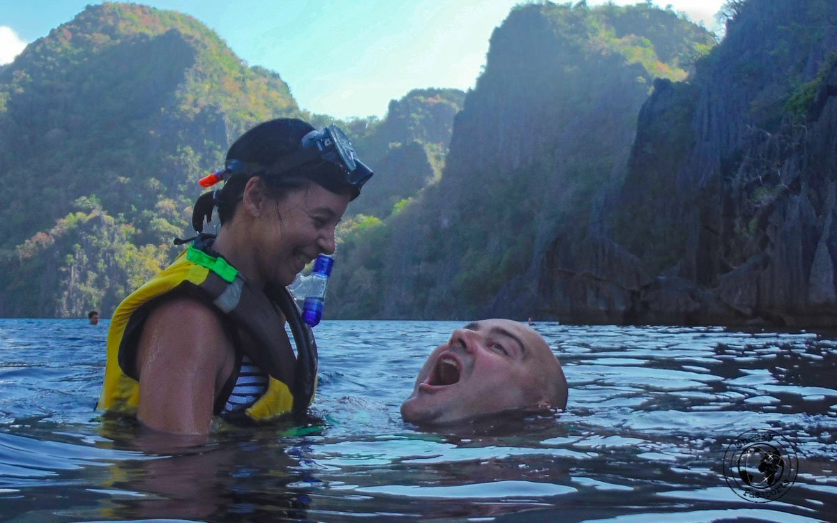 Highlights of Coron - Michelle attempting to drown Nikki during island hopping in Coron