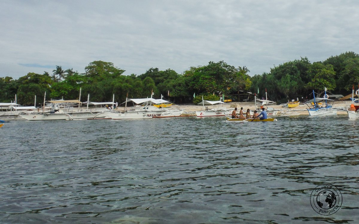 landing at Balicasag island - why we don't recommend the panglao island tour