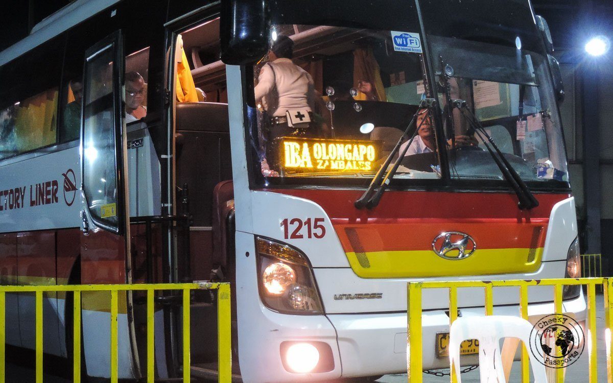 The victory liner bus at Cubao station - The bus to La Union from Manila