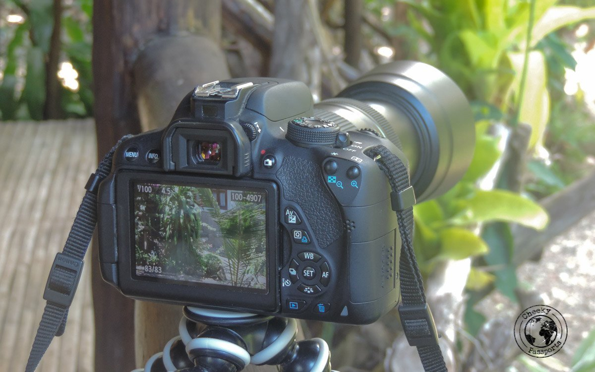 Canon Eos 700d - Cheeky Passports Electronics packing list