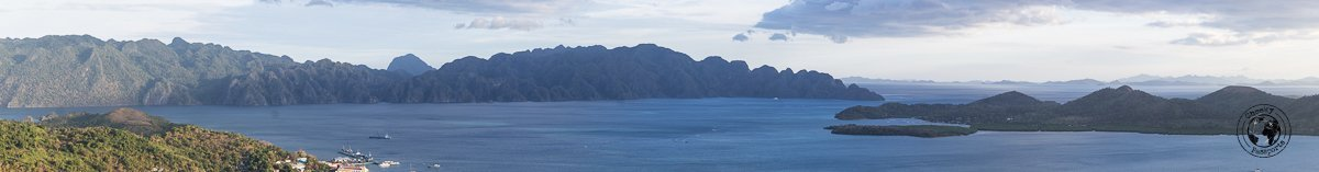 Tourist spots in Coron, Palawan - panoramic view from Mount Tapias Coron