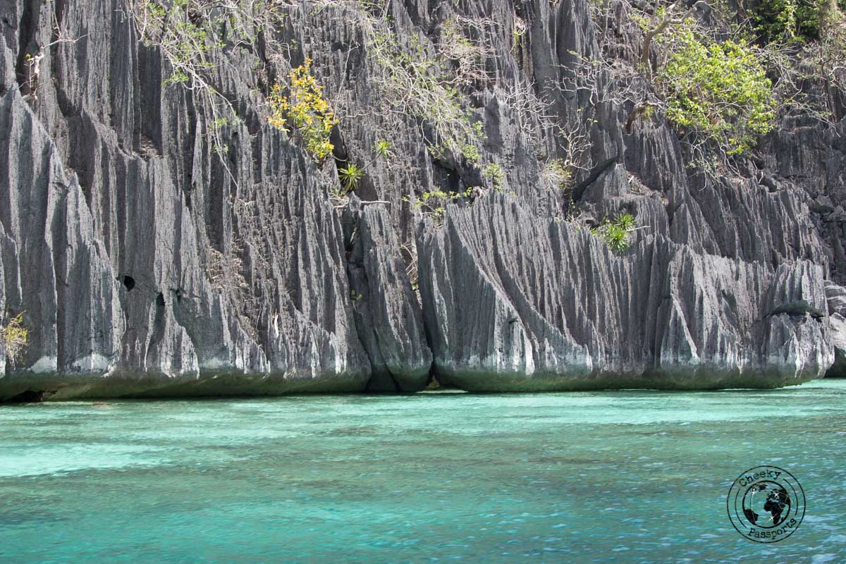 Tourist spots in Coron, Palawan - beautiful rock formations typical of Coron island and thereabouts