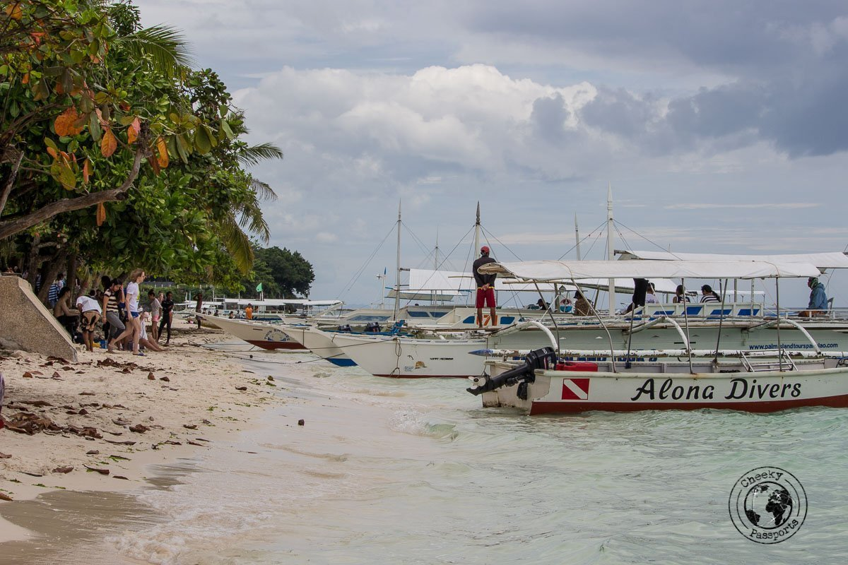Bohol tourist spots - a view of Alona beach bohol