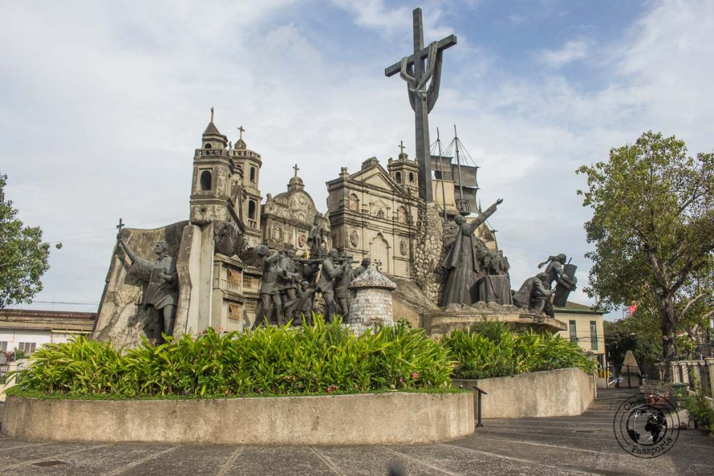 The parian monument along the walking tour in Cebu City