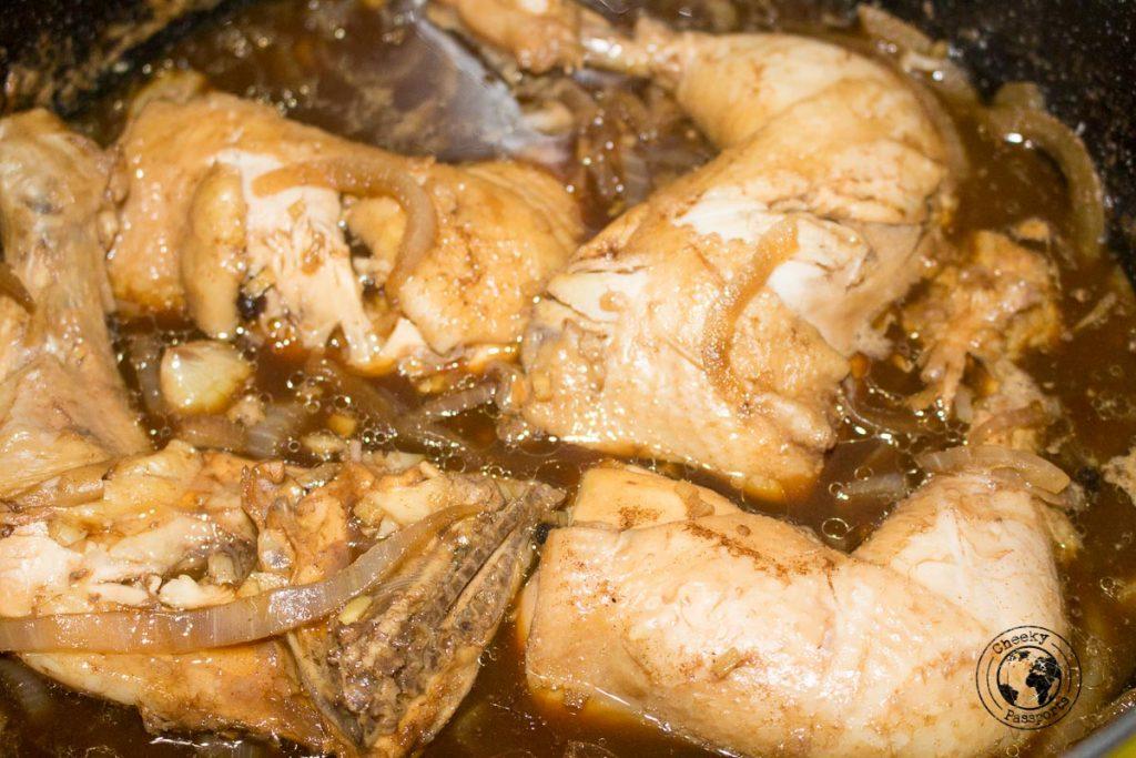 prepared Chicken Adobo recipe, ready to serve