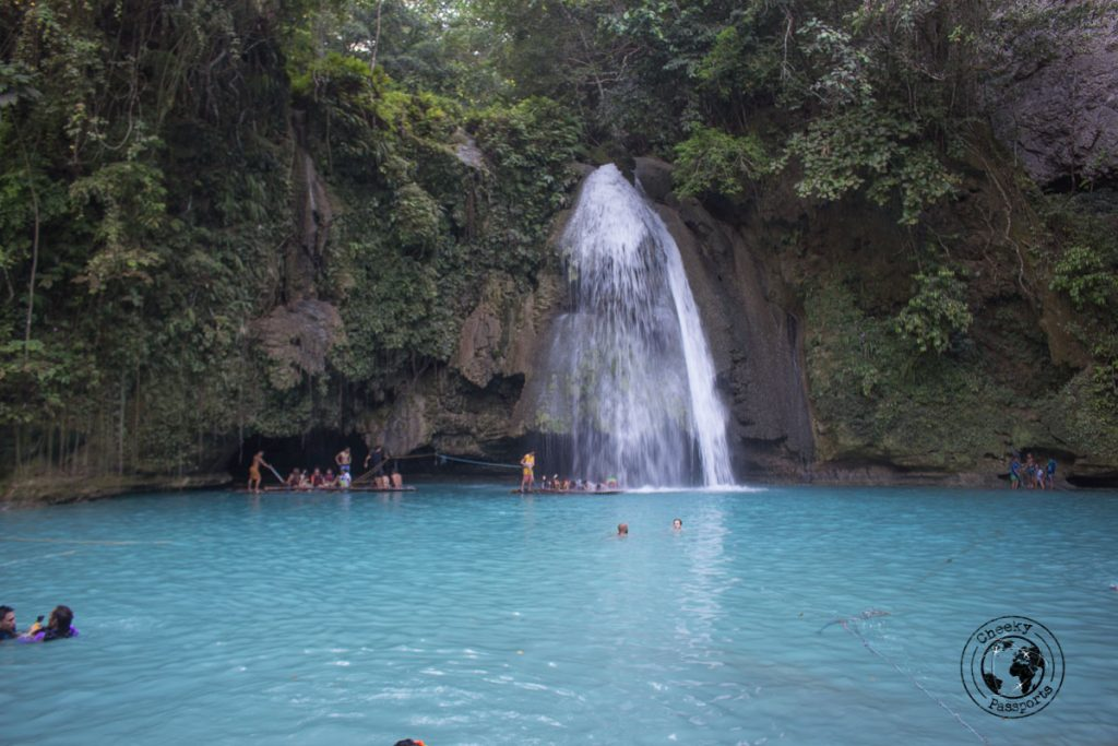 The first lagoon at the Kawasan falls