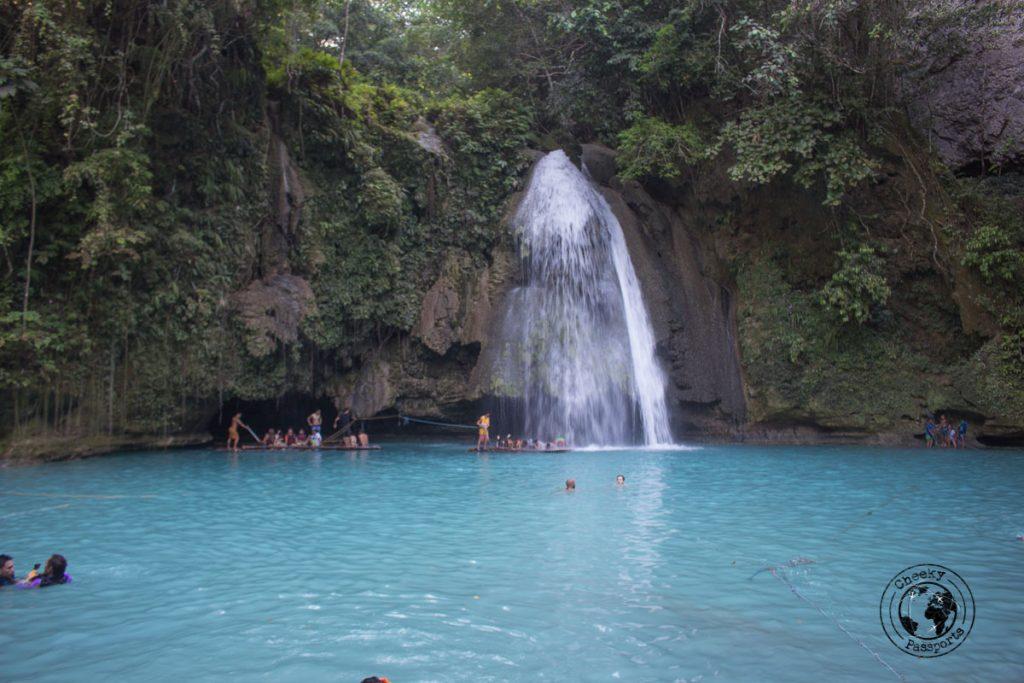 The first lagoon at the Kawasan falls
