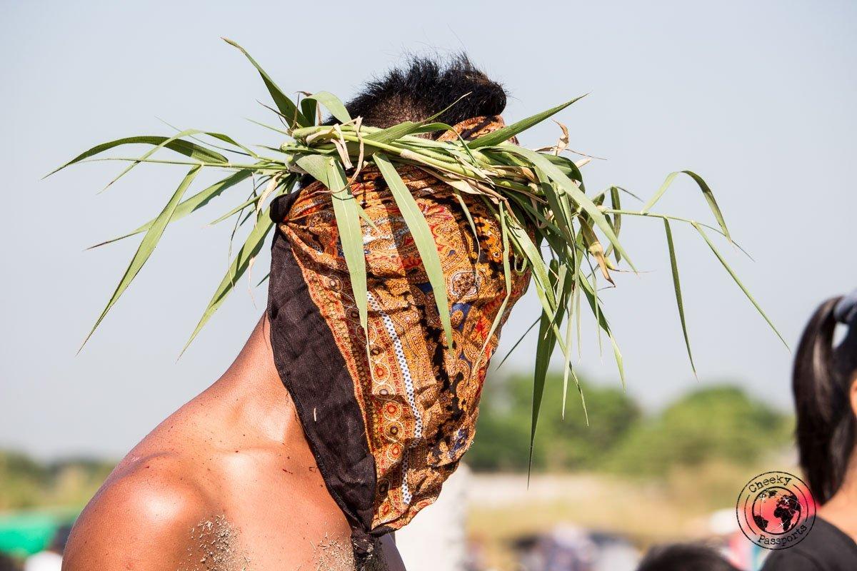 masked penitents - crucifixion at san pedro cutud
