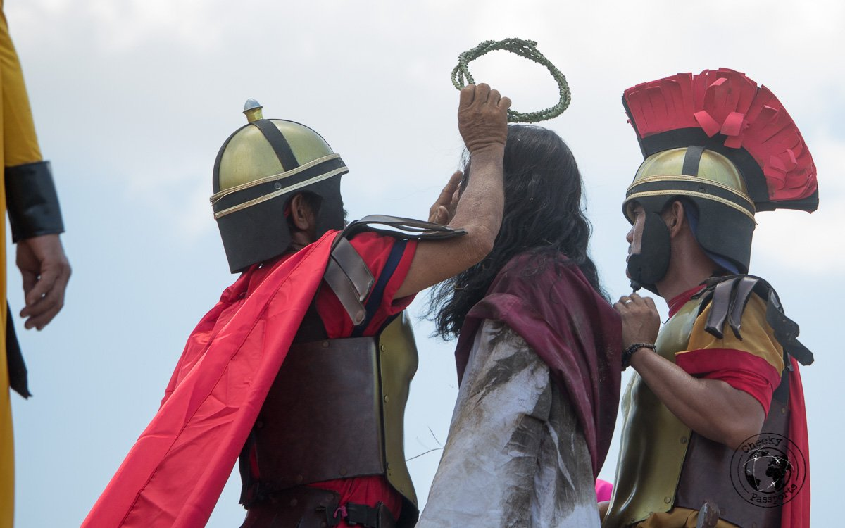 Jesus and the thorny crown - crucifixion at san pedro cutud