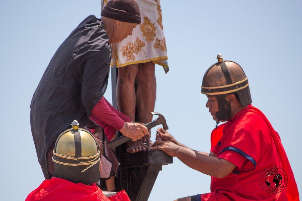 nails to the feet - crucifixion at san pedro cutud