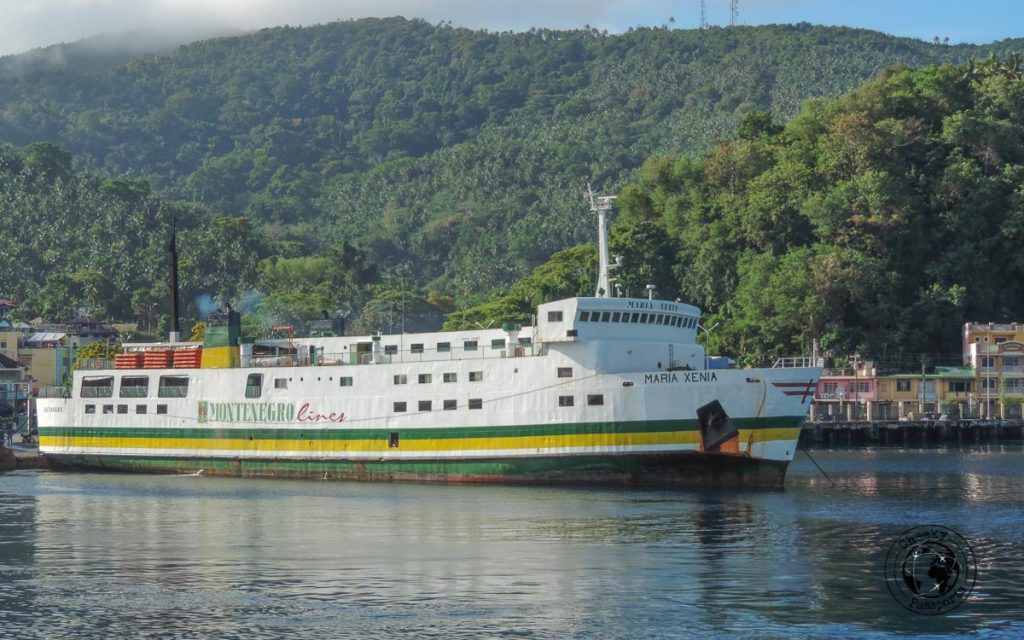 The Maria Xenia, a ferry owned by the Montenegro Lines - Philippines travel tips