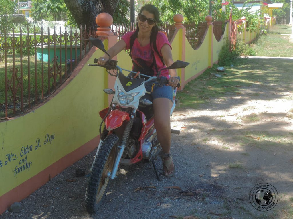 Michelle on a bike in Sibuyan - Philippines travel tips