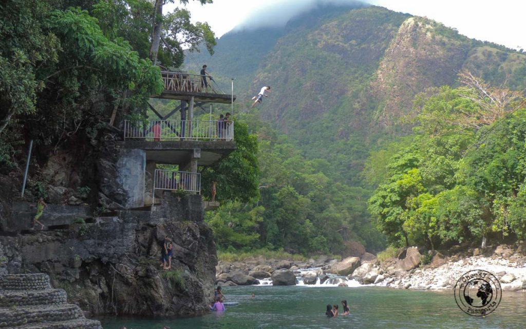 swimming in the Cantingas river in Sibuyan