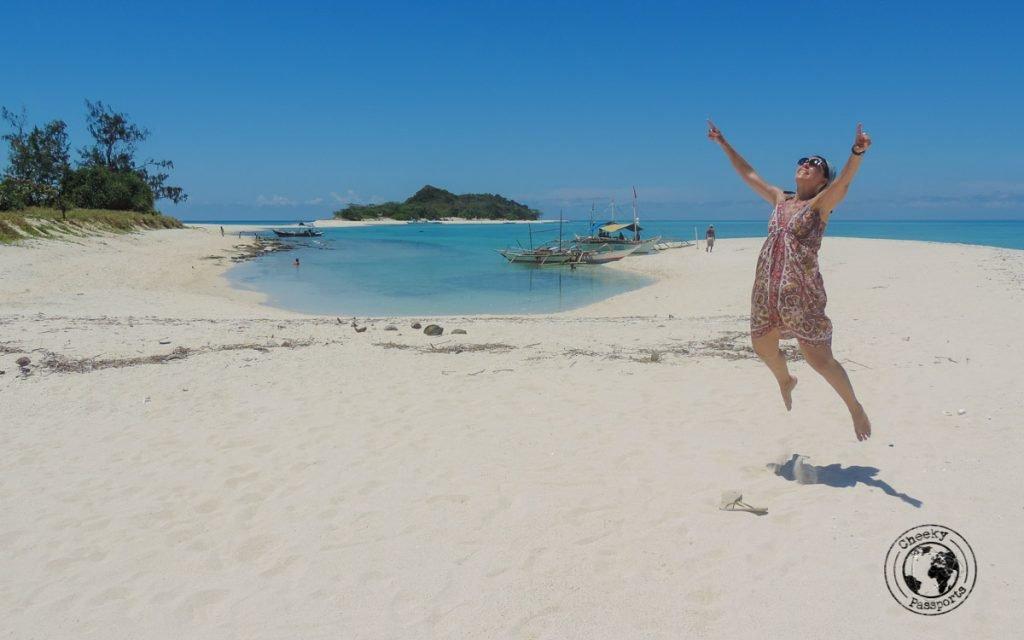 jump shot by Michelle at Cresta de Gallo island in Romblon (Sibuyan)