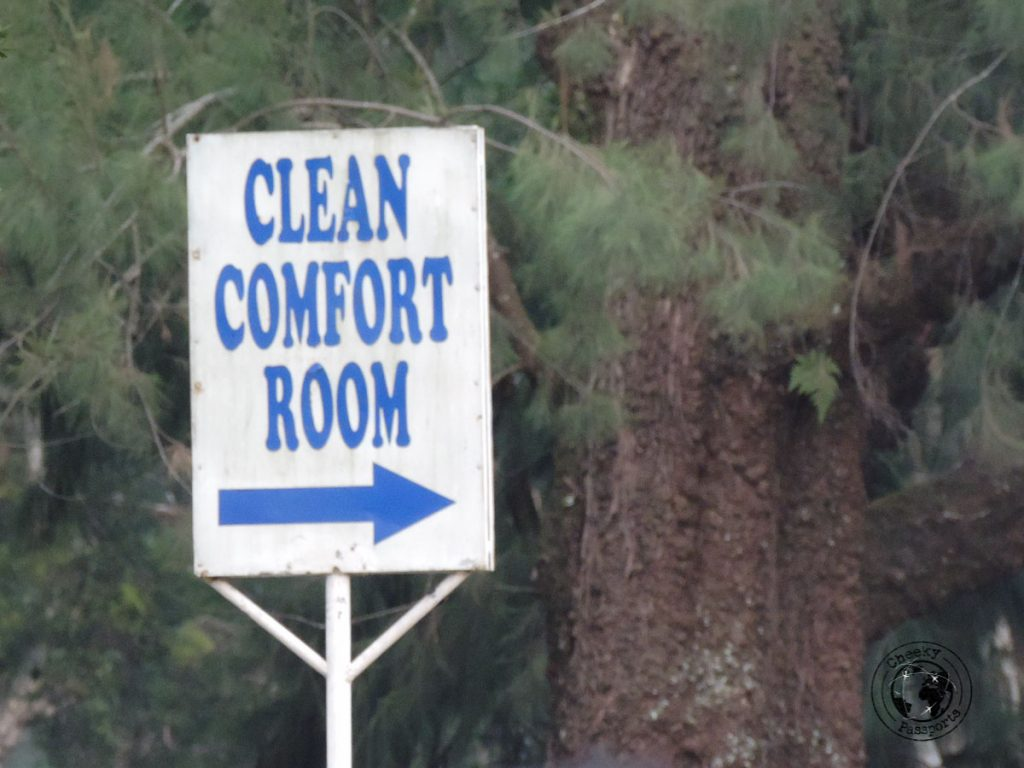 The CR sign referring to comfort room or toilet - Philippines travel tips