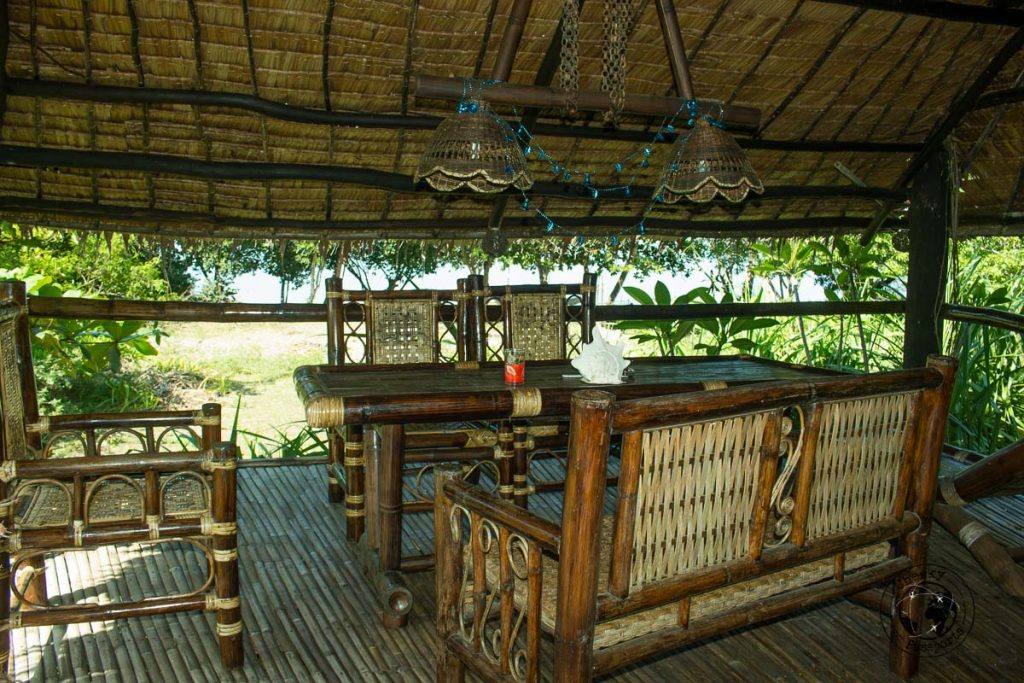 Relaxing lounge at the Boathouse in Sibuyan