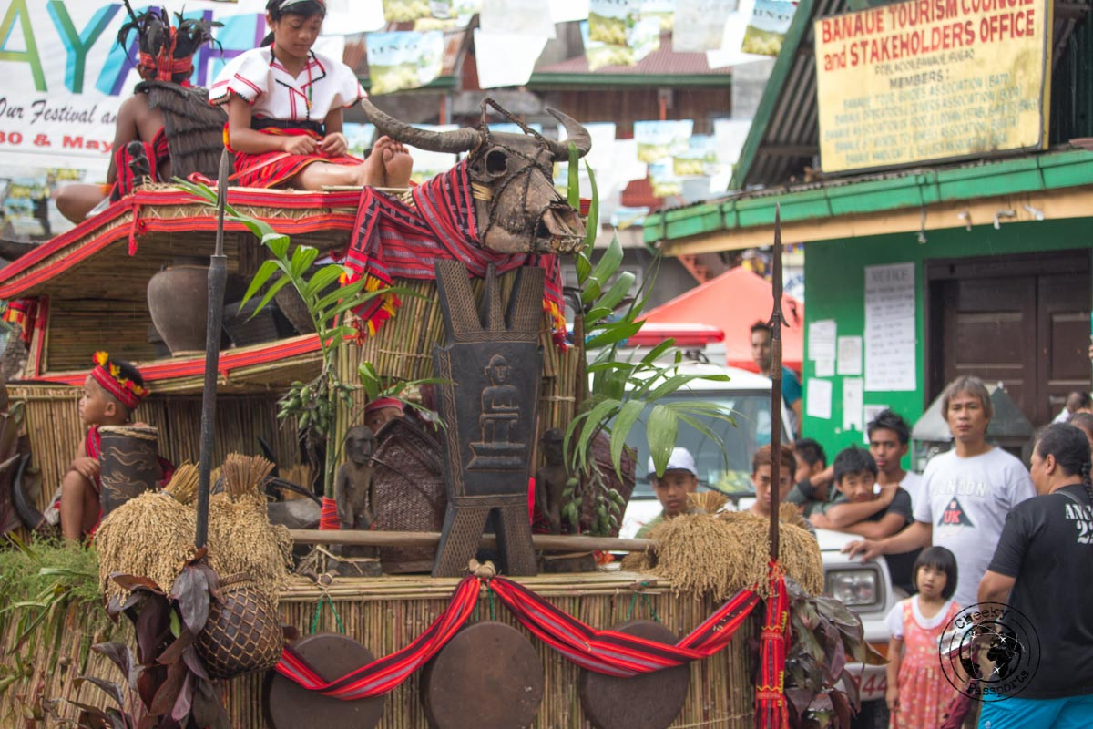 One of the floats used in the Imbayah Festival in Banaue - Banaue Rice Terraces Tour