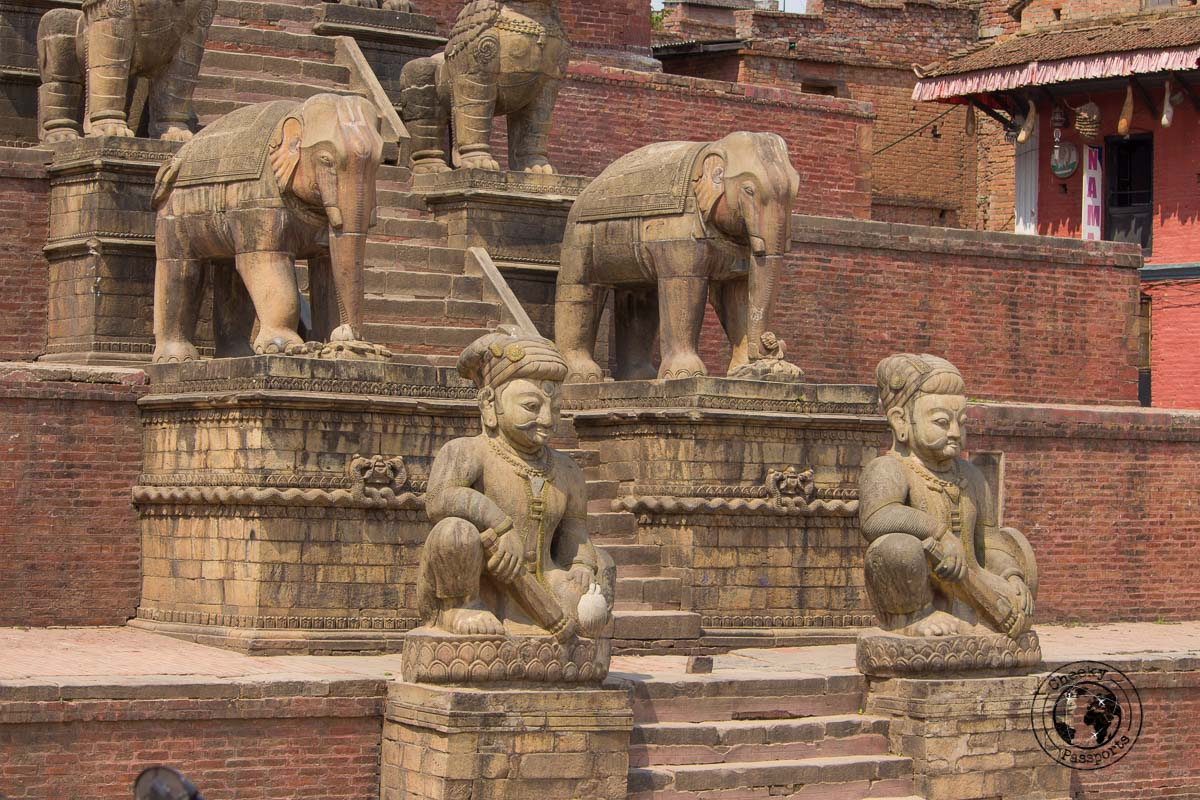 Nyatapola Temple staircase at Bhaktapur Durbar Square
