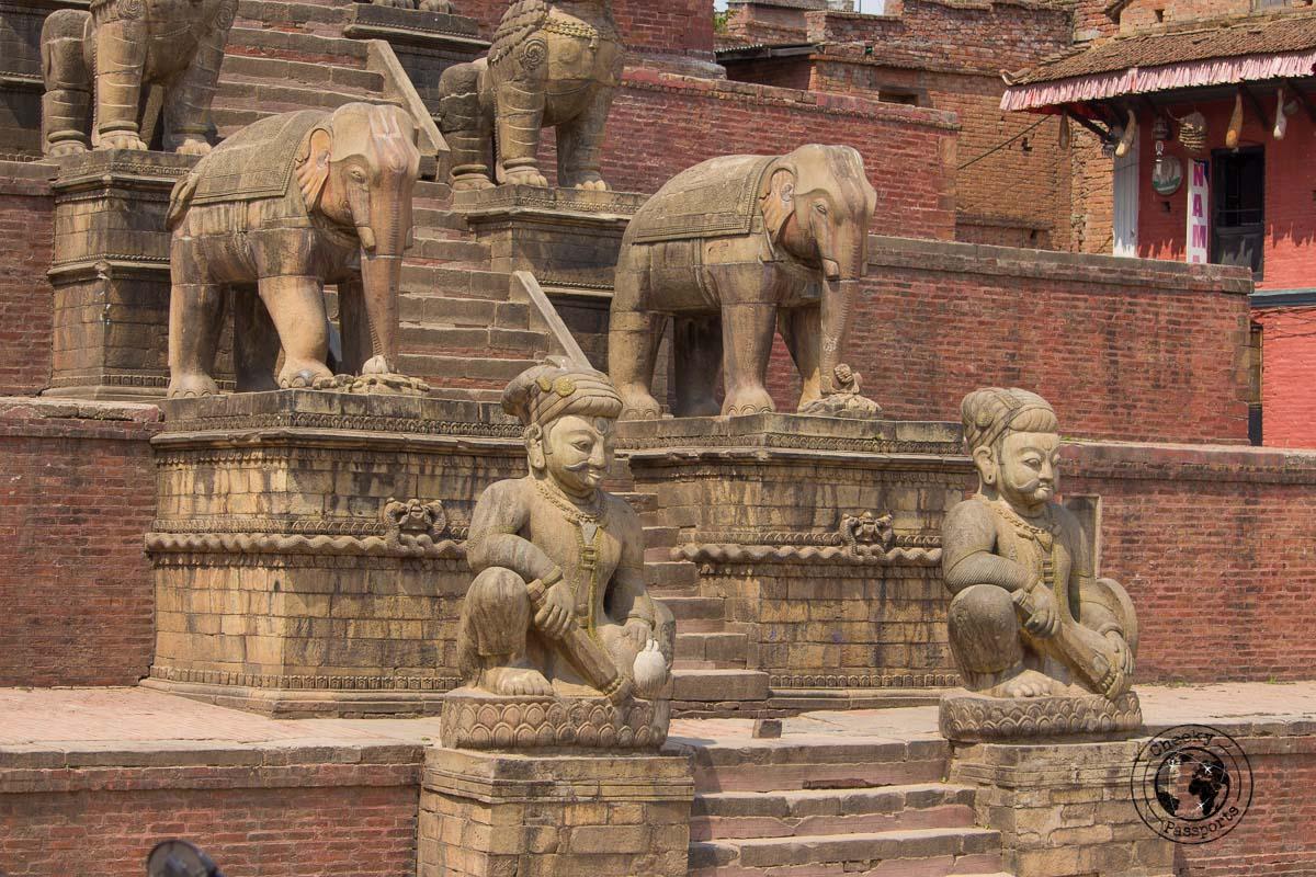 Nyatapola Temple staircase at Bhaktapur Durbar Square