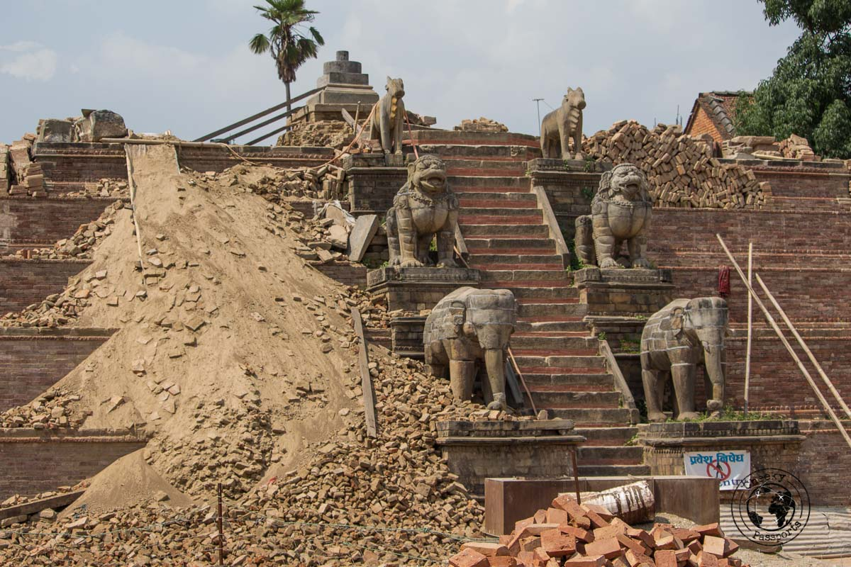 The ruins of the Vatsala Devi at Bhaktapur Durbar Square