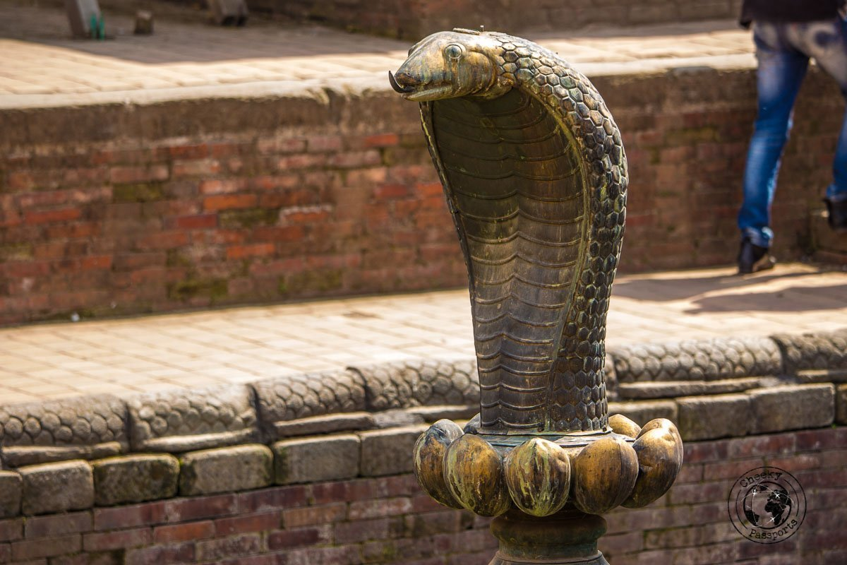 The Cobra decoration at the Naga Pokhari at Bhaktapur Durbar Square