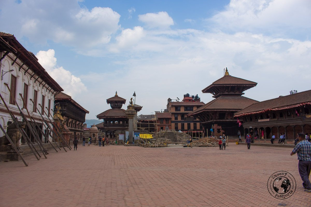 The Main square at Bhaktapur Durbar Square