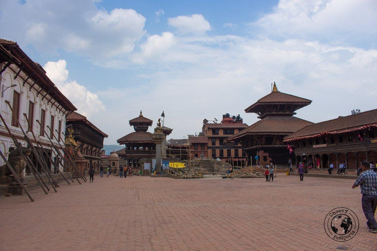 The Main square at Bhaktapur Durbar Square