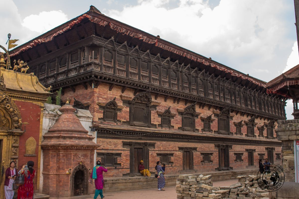 Palace of fifty five windows at the Bhaktapur Durbar Square