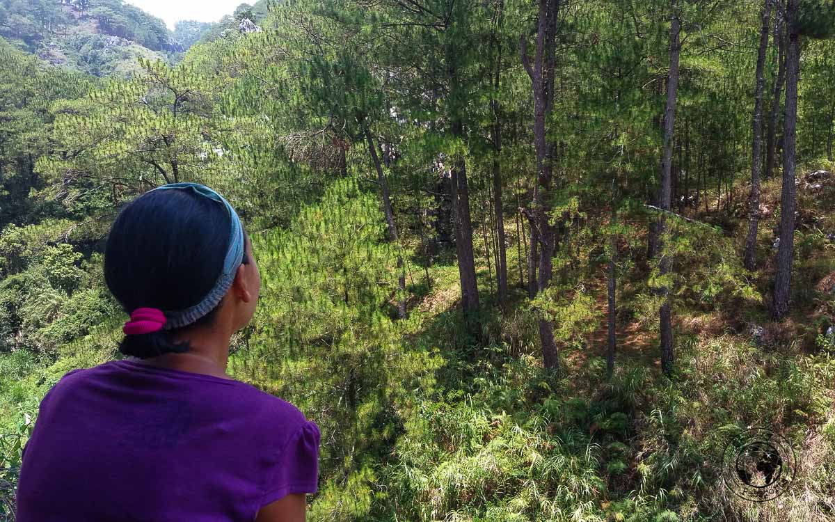 View from the Kanpi-Aw Lodge in Sagada