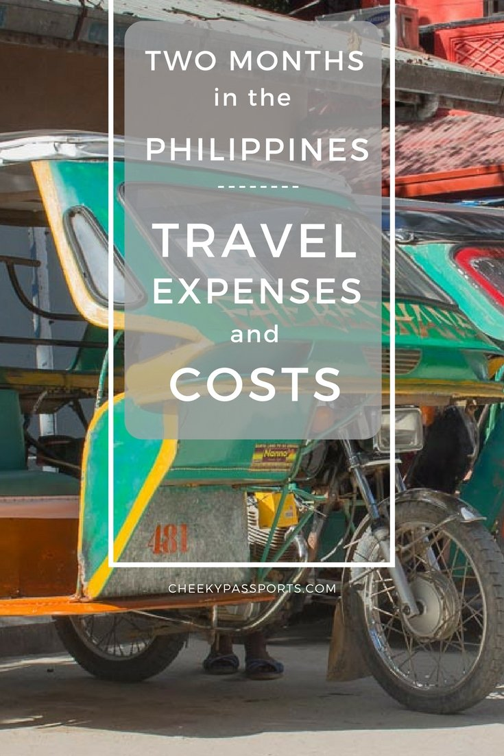 Two months in the Philippines - Travel expenses and costs
