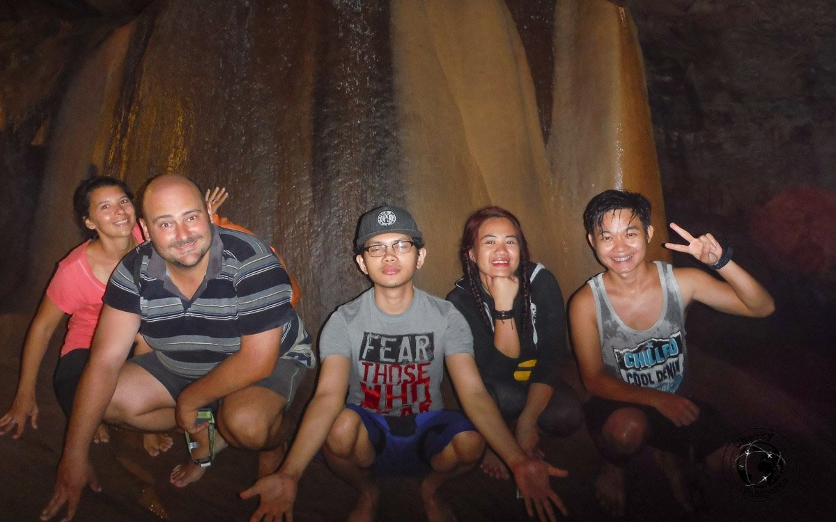 A group photo at the Sumaguing Cave, Cave connection tour in Sagada