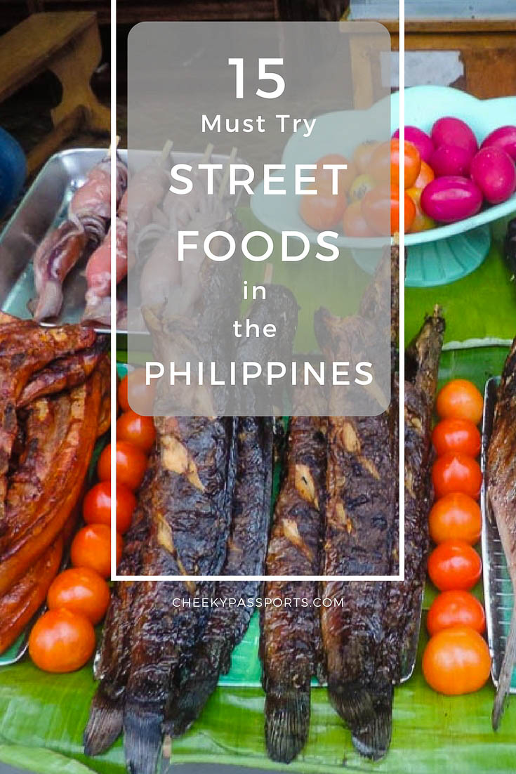 Since we travelled around the Philippines on a budget, most of our meals consisted of street food and cheap (but hearty) dishes at local eateries. Healthy or not, here are the 15 'must-try' street foods in the Philippines. #food #streetfood #streetfoodsinthephilippines #pinoy #pinoystreetfood