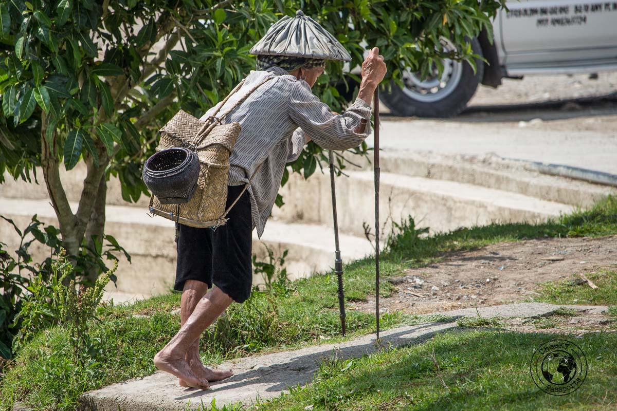 an old woman in Sagada