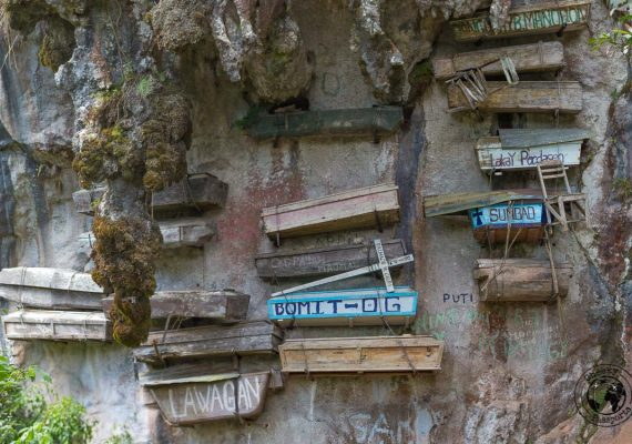 The hanging coffins in Sagada