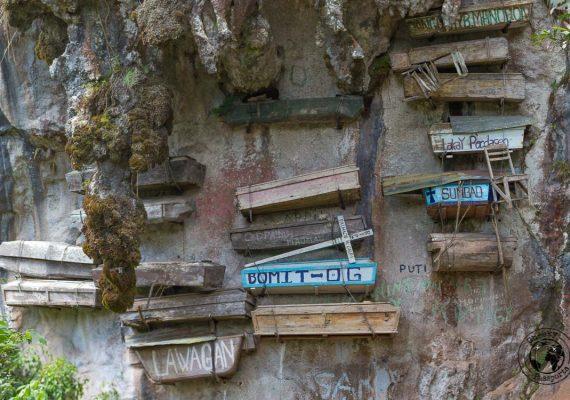 The hanging coffins in Sagada
