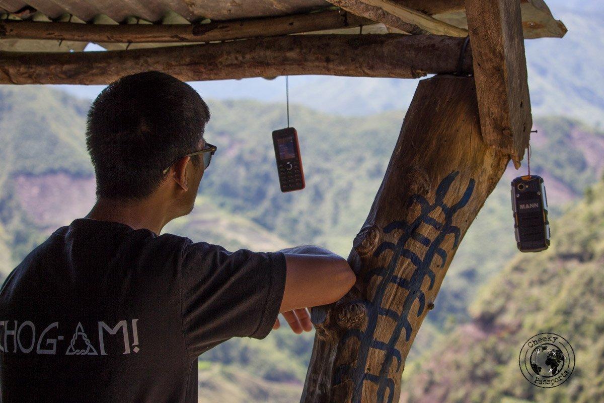 The hanging phones of Buscalan Kalinga people - Reception is terrible