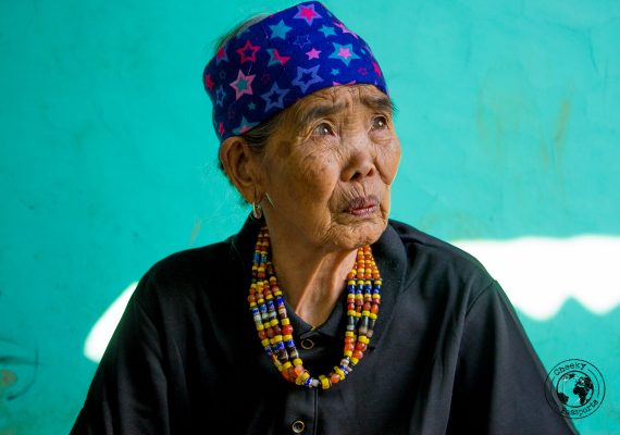 Legendary tattoo artist Whang-Od, Kalinga tribe of Busclaan