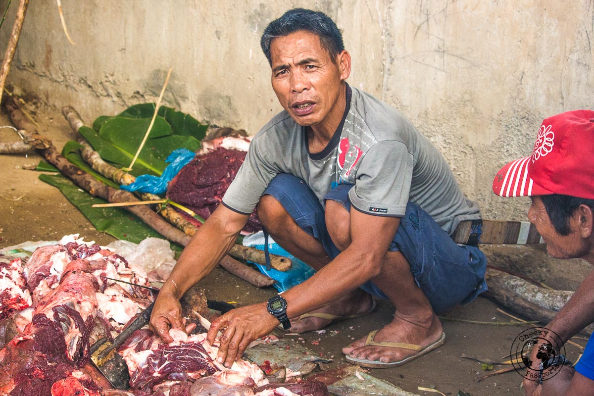 Meat cuts being prepared for the festival in Buscalan - Meeting the Kalinga tribe in Buscalan