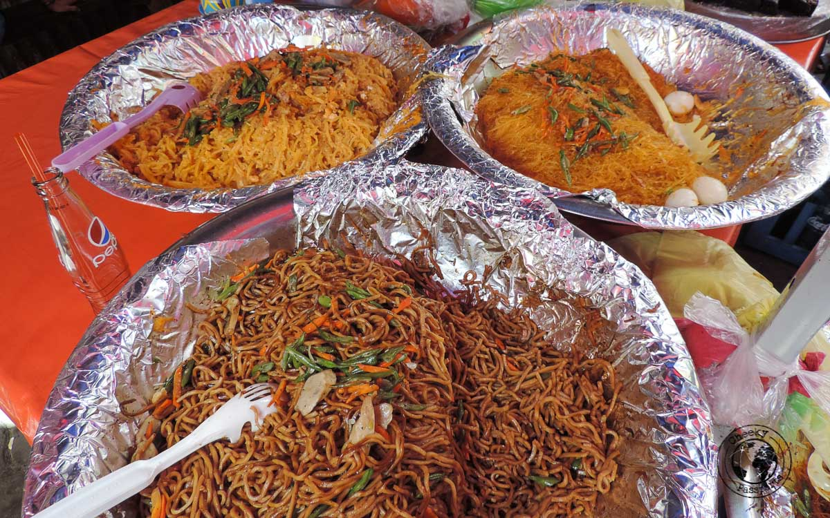 Pancit - Must Try street foods in the Philippines - traveling in southeast asia