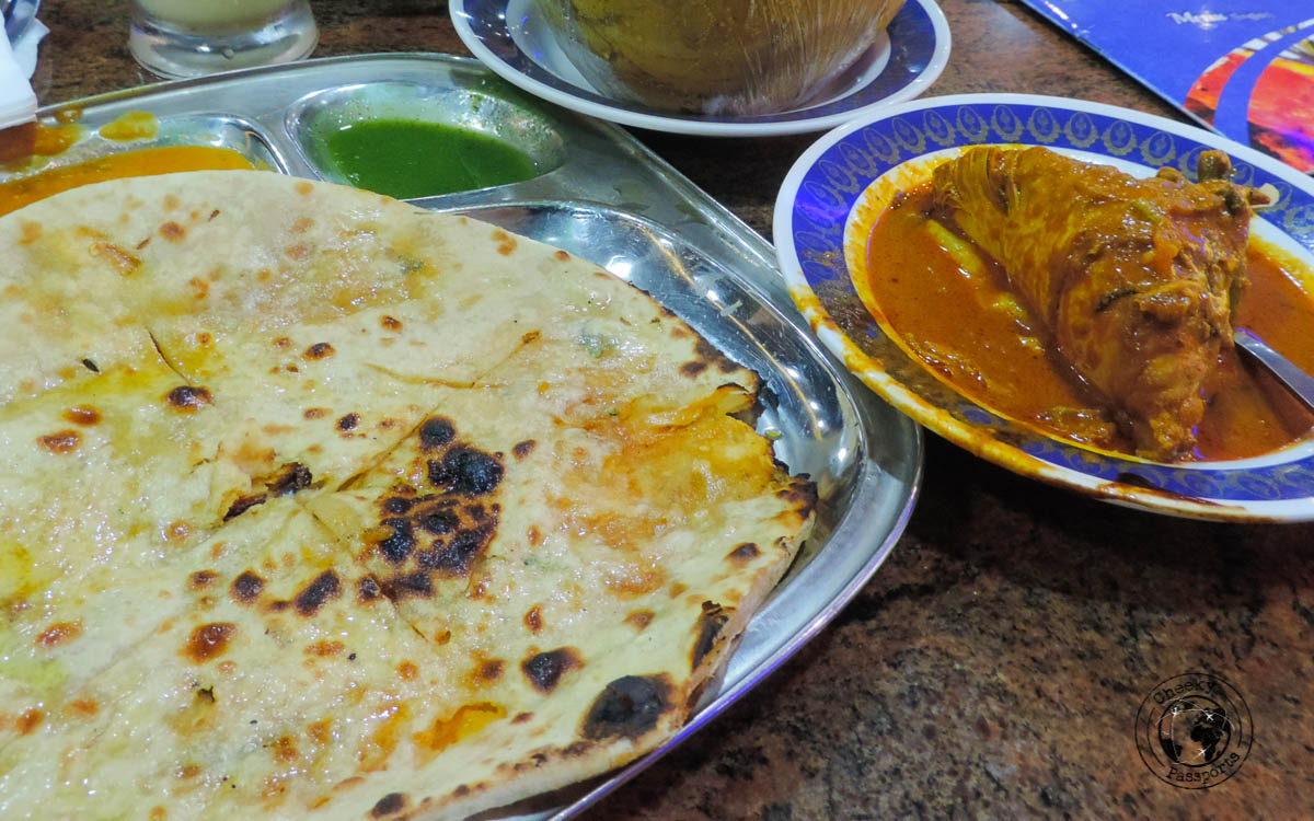 Butter Naan and curry chicken - Budget Restaurants in KL