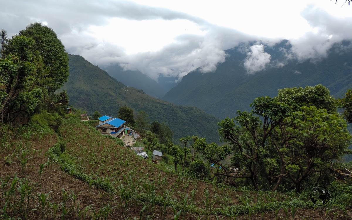 mountain views at the Poon hill trek, Pokhara