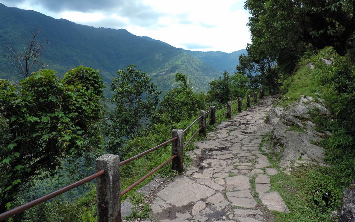 mountain path at the Poon hill trek, Pokhara