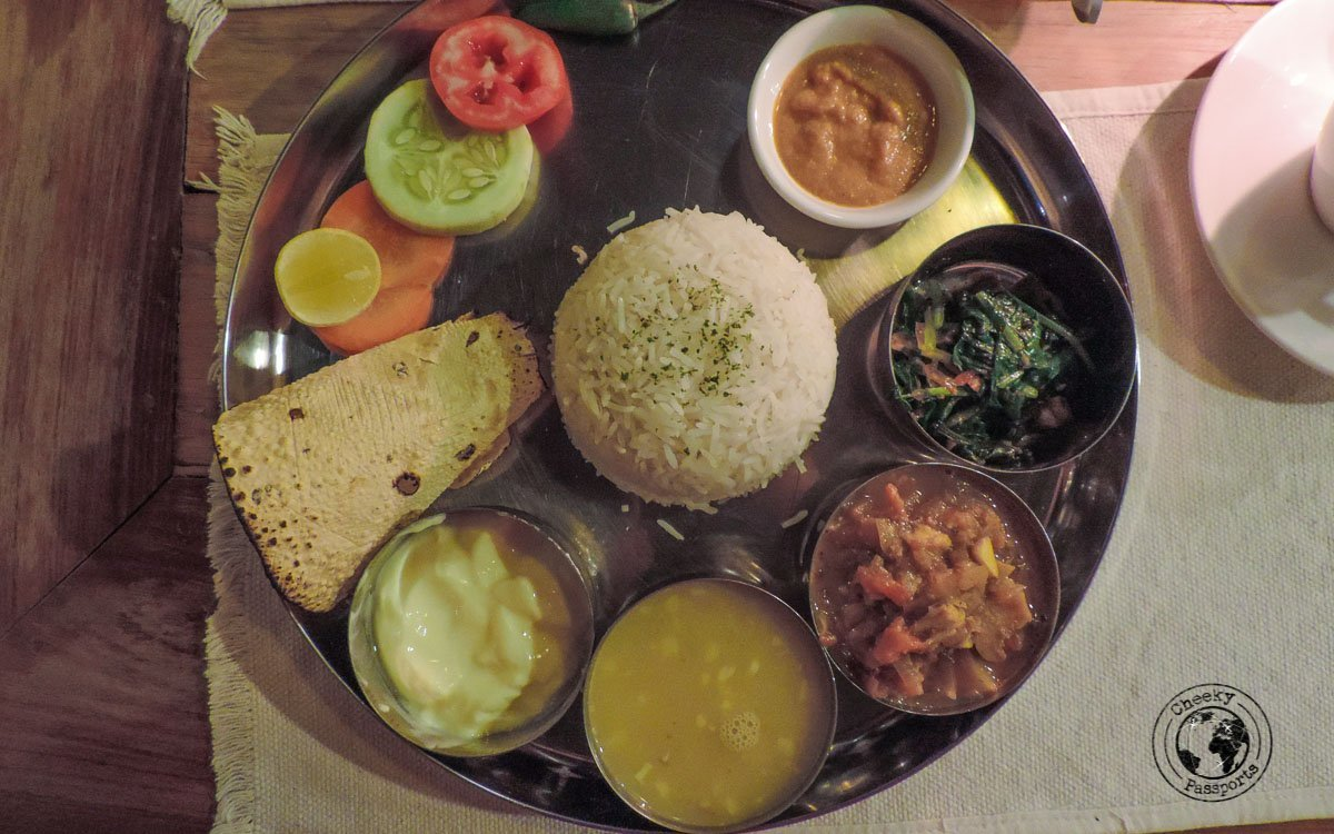 A delicious thali in Kathmandu