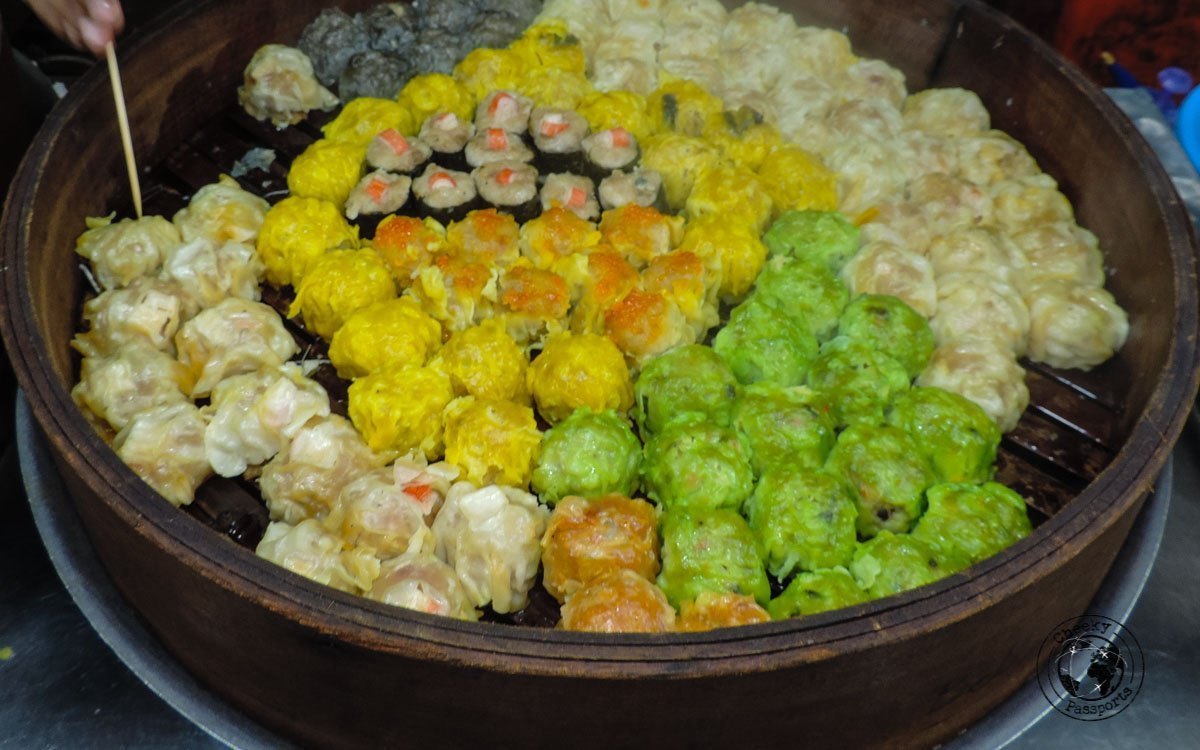 Dimsum - street foods in Malaysia - Malaysia Travel Budget and Expenses