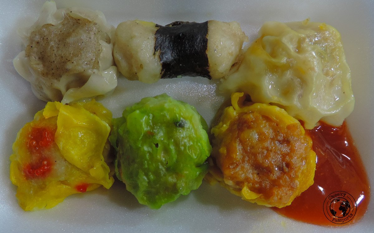 Dimsum serving - street foods in Malaysia