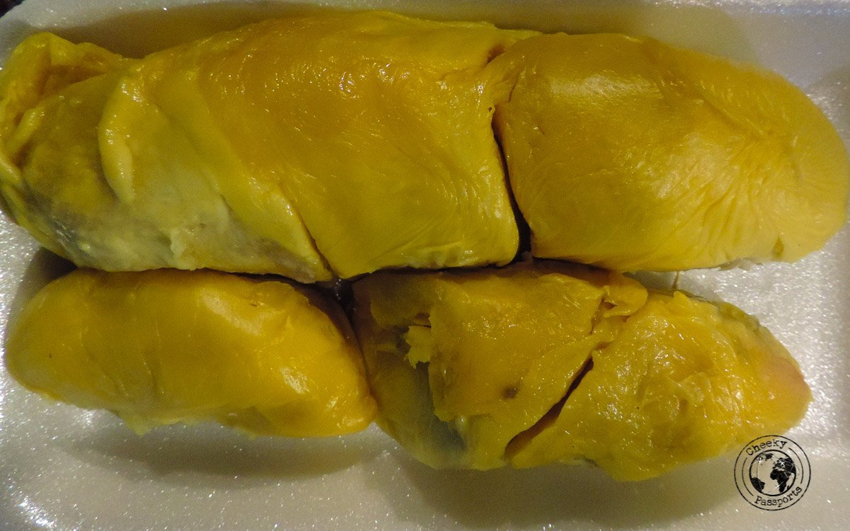 Durian - street foods in Malaysia - traveling in southeast asia