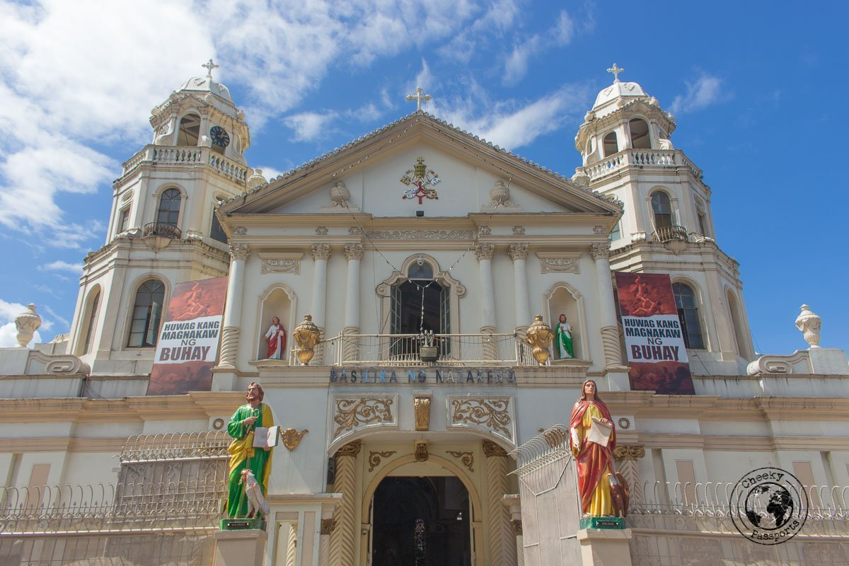 Minor Basilica from Plaza Miranda - A stop on the Day tour in Manila City