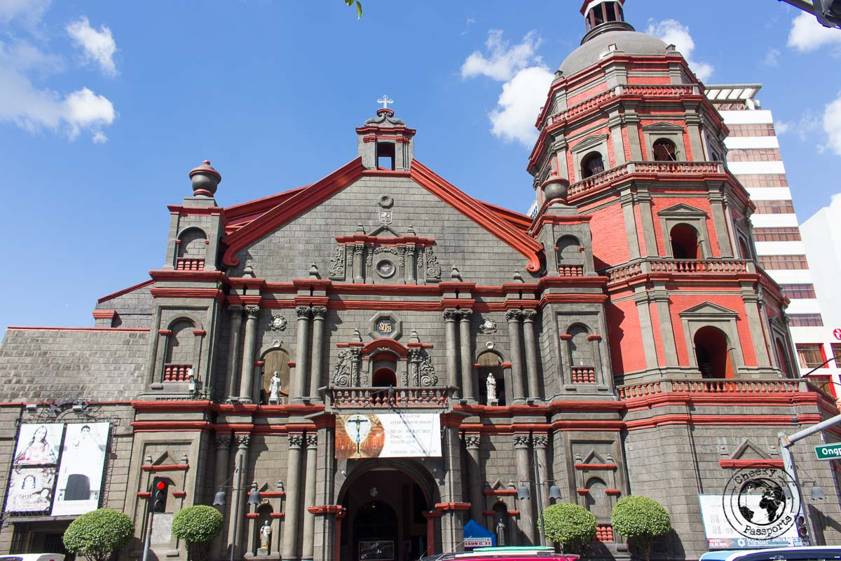 exterior of the Minor Basilica of Sto. Lorenzo Ruiz - A stop on the Day tour in Manila City